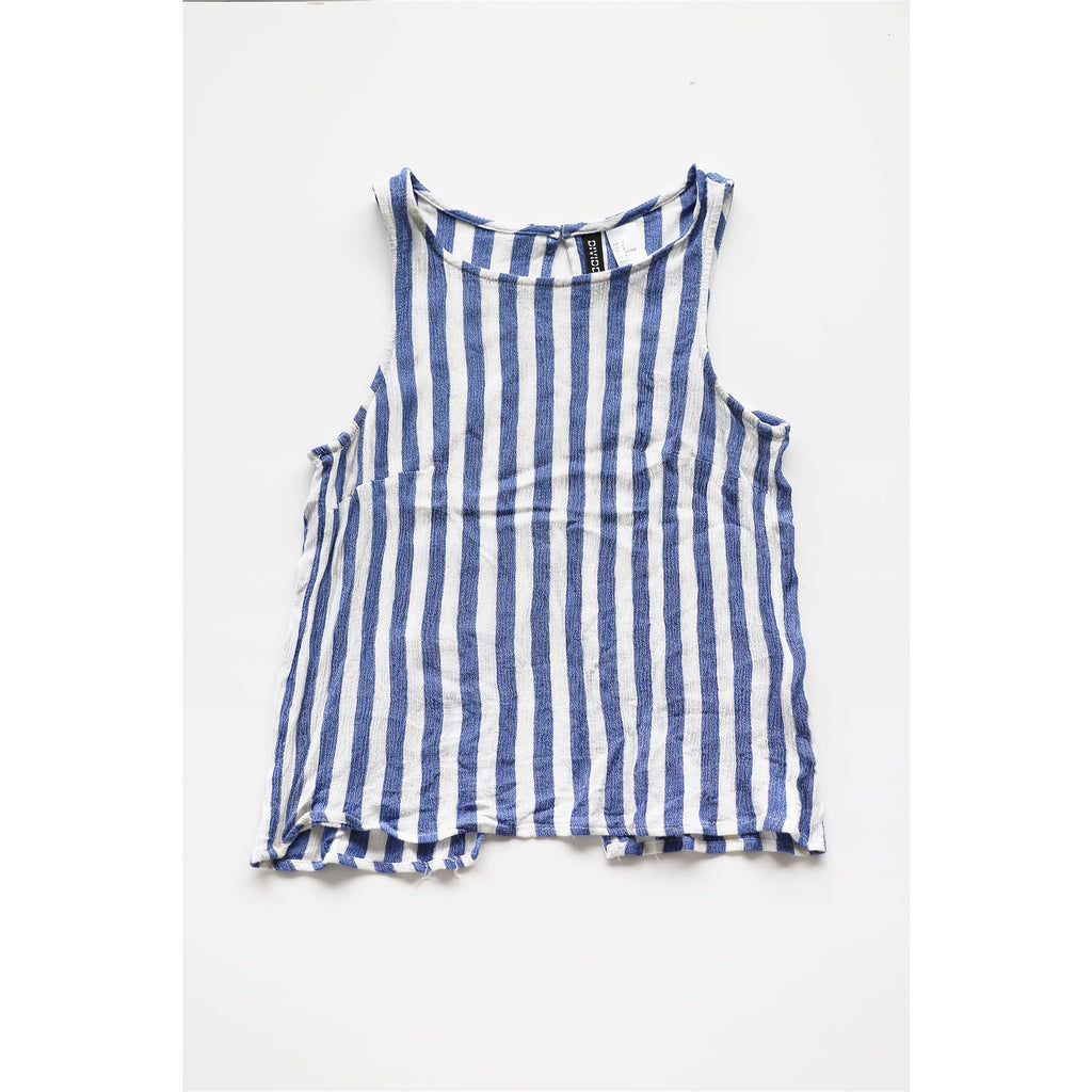 H&M | Blue and White Stripes Tank Top - Fresh Fashion Library