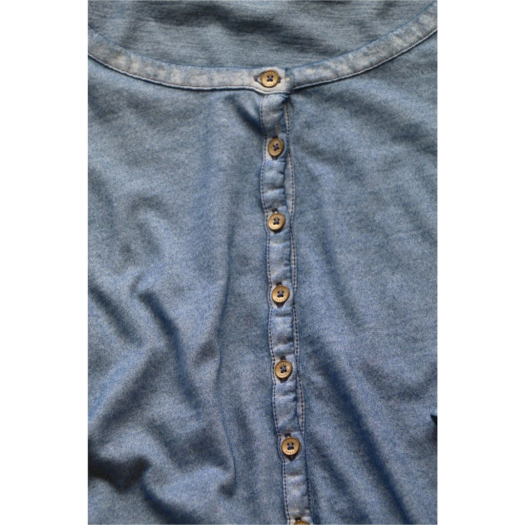GUESS | Blue Button Front Top