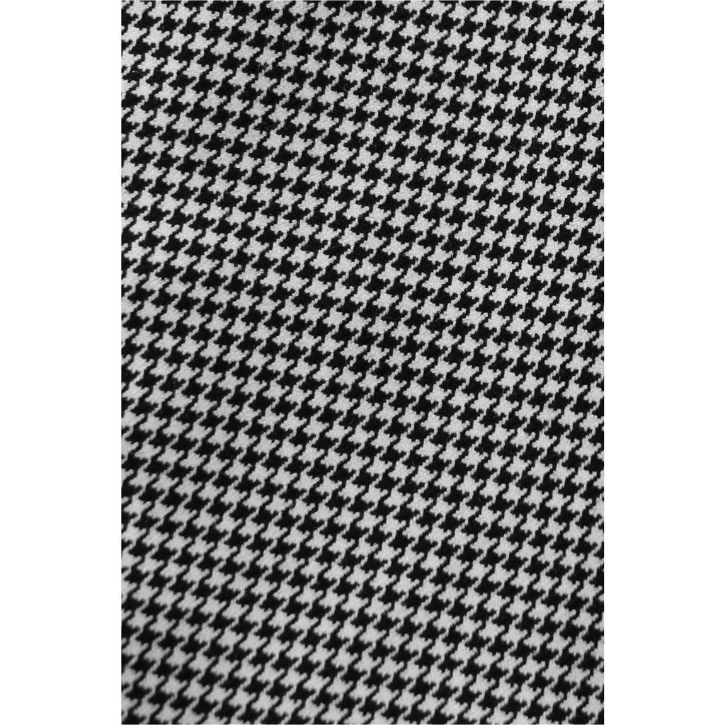 H&M |  Houndstooth Mini Skirt with Ruffle