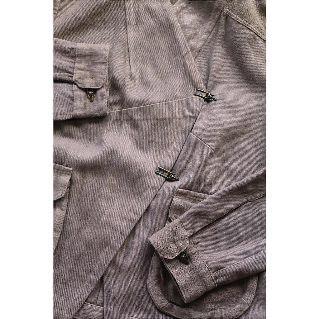 WHERE |  Brown Twill Utility Jacket