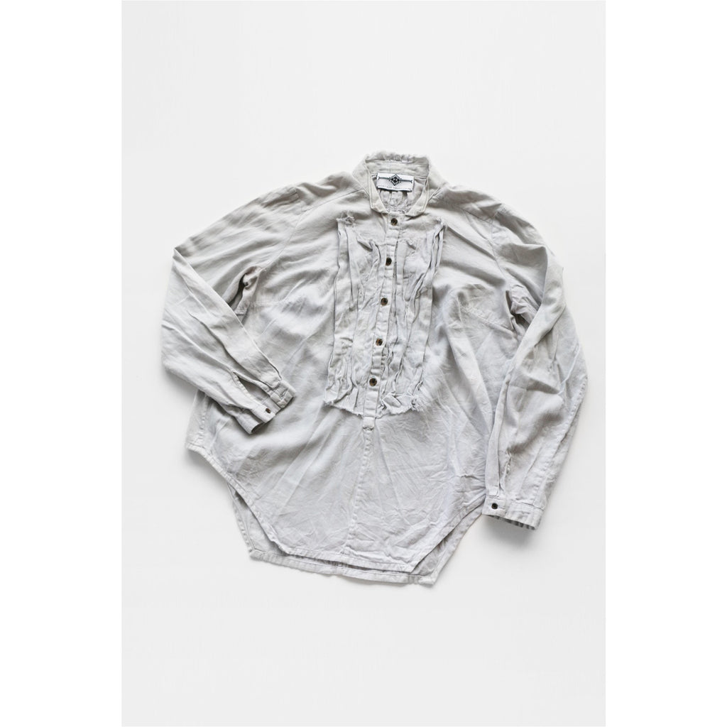 PEGGY SUE COLLECTION |  Light Grey Gathered Bib Shirt
