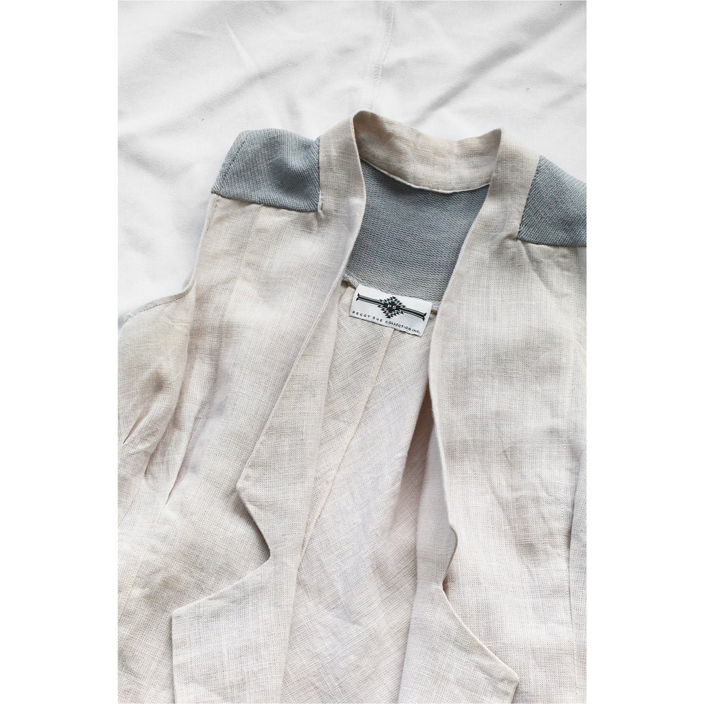 PEGGY SUE COLLECTION |  Beige Long Vest with Lapels