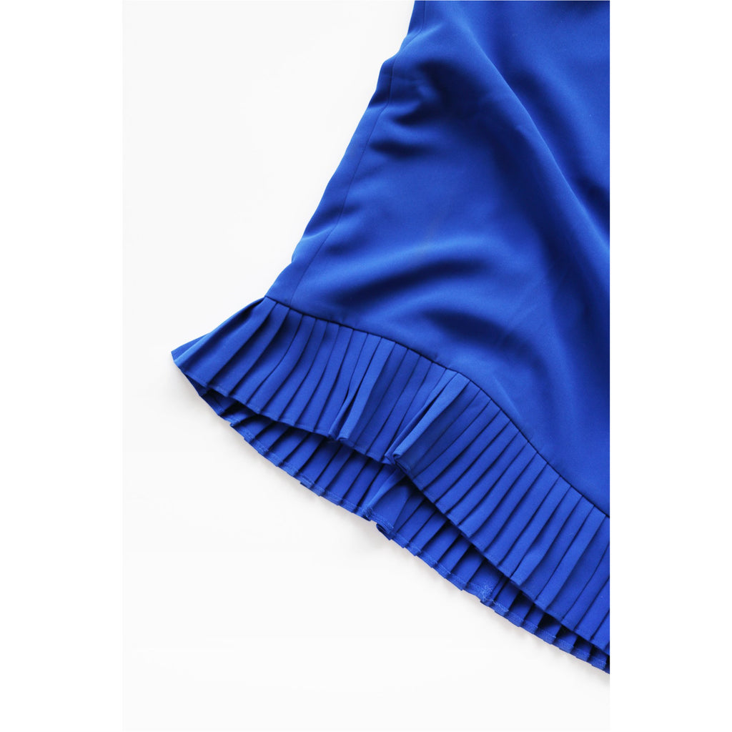 LE SUIT | Royal Blue Pleated Pencil Skirt