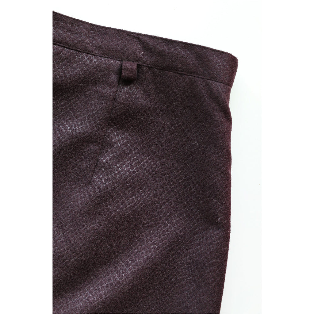 BIAGGINI | Purple Textured Faux Suede Skirt