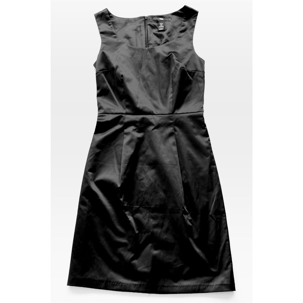 H&M | Black Sheath Satin Dress