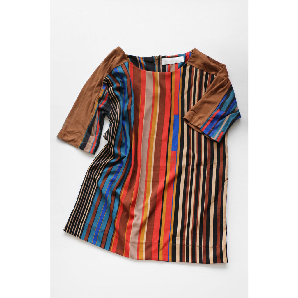 ZARA |  Brown Striped Top - Fresh Fashion Library