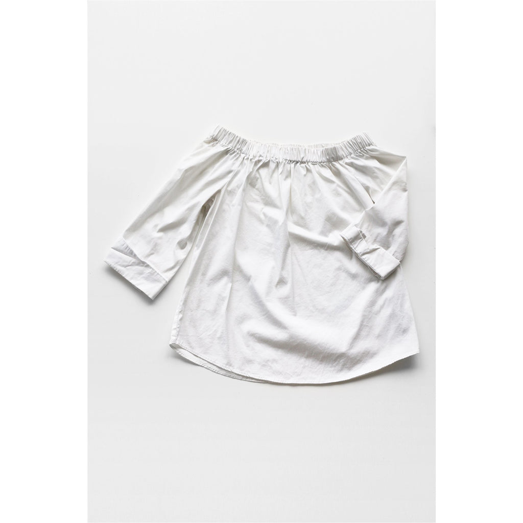 ZARA |  White Off the Shoulder Top - Fresh Fashion Library