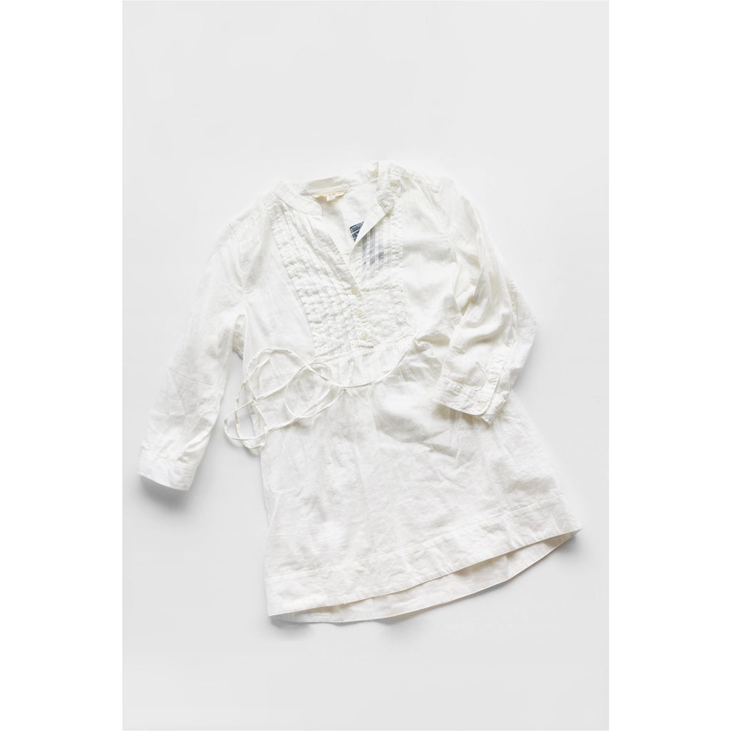 FOREVER 21 | White Pleated Cotton Shirt