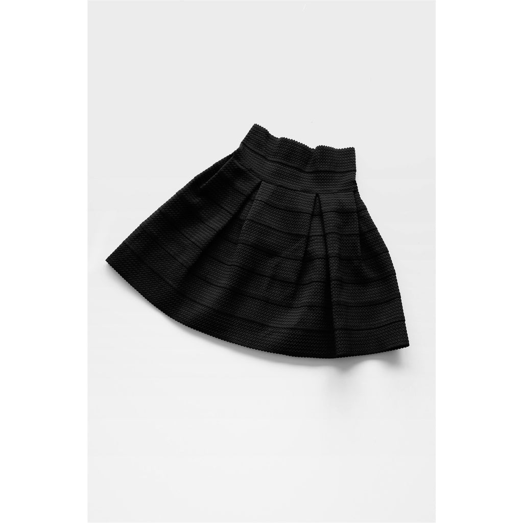 H&M | Black Textured Knit Skater Skirt