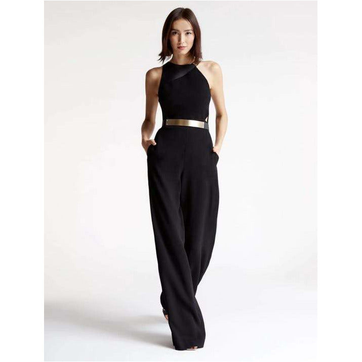 Halston Heritage | Metal Plate Jumpsuit - Fresh Fashion Library