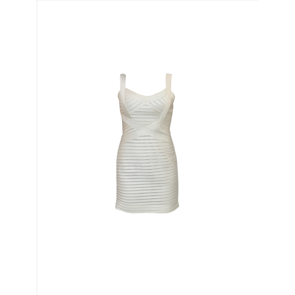 BCBG | ivory panelled dress