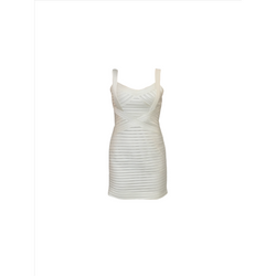 BCBG ivory panelled dress