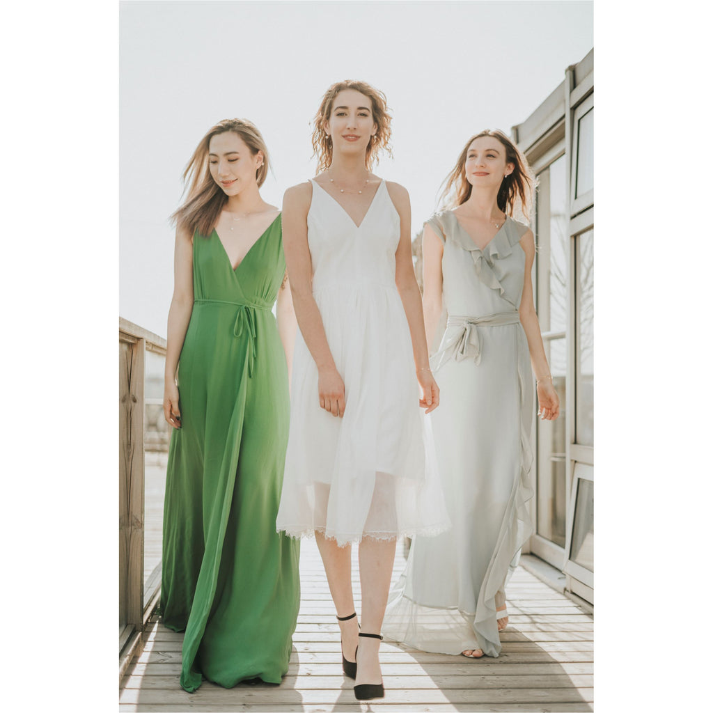 DRESS THE POPULATION | Off-White Alicia Fit and Flare Midi Dress