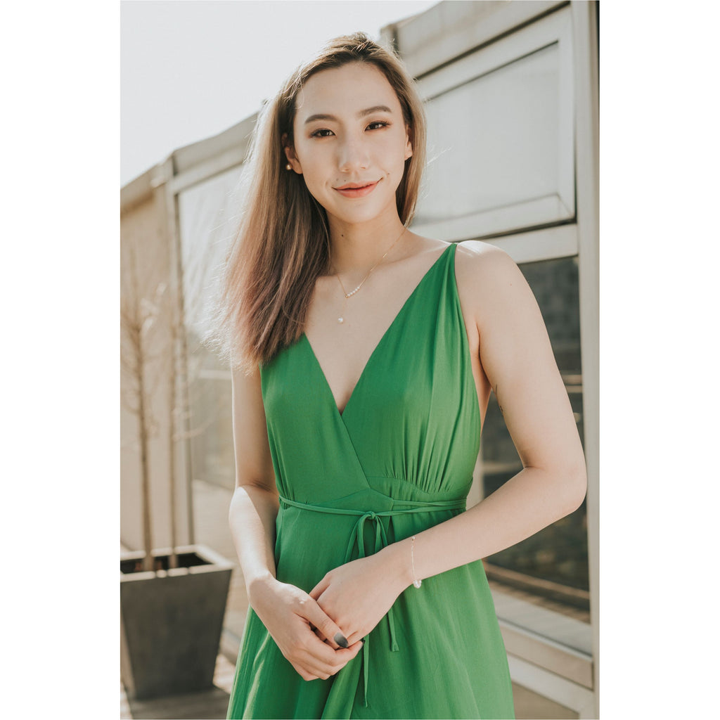 REFORMATION | Green Callalily Dress - Fresh Fashion Library