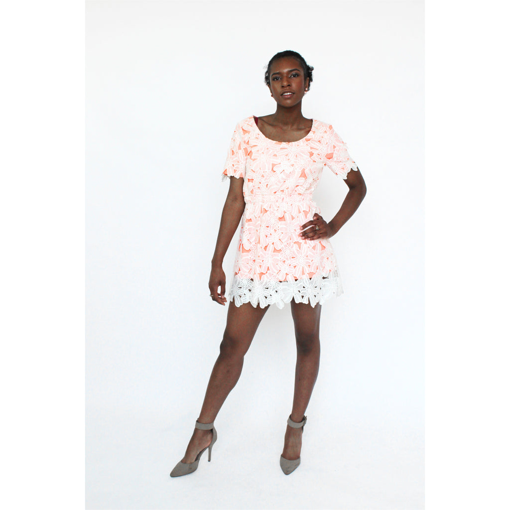 JOA | Lace-up Summer Dress - Fresh Fashion Library