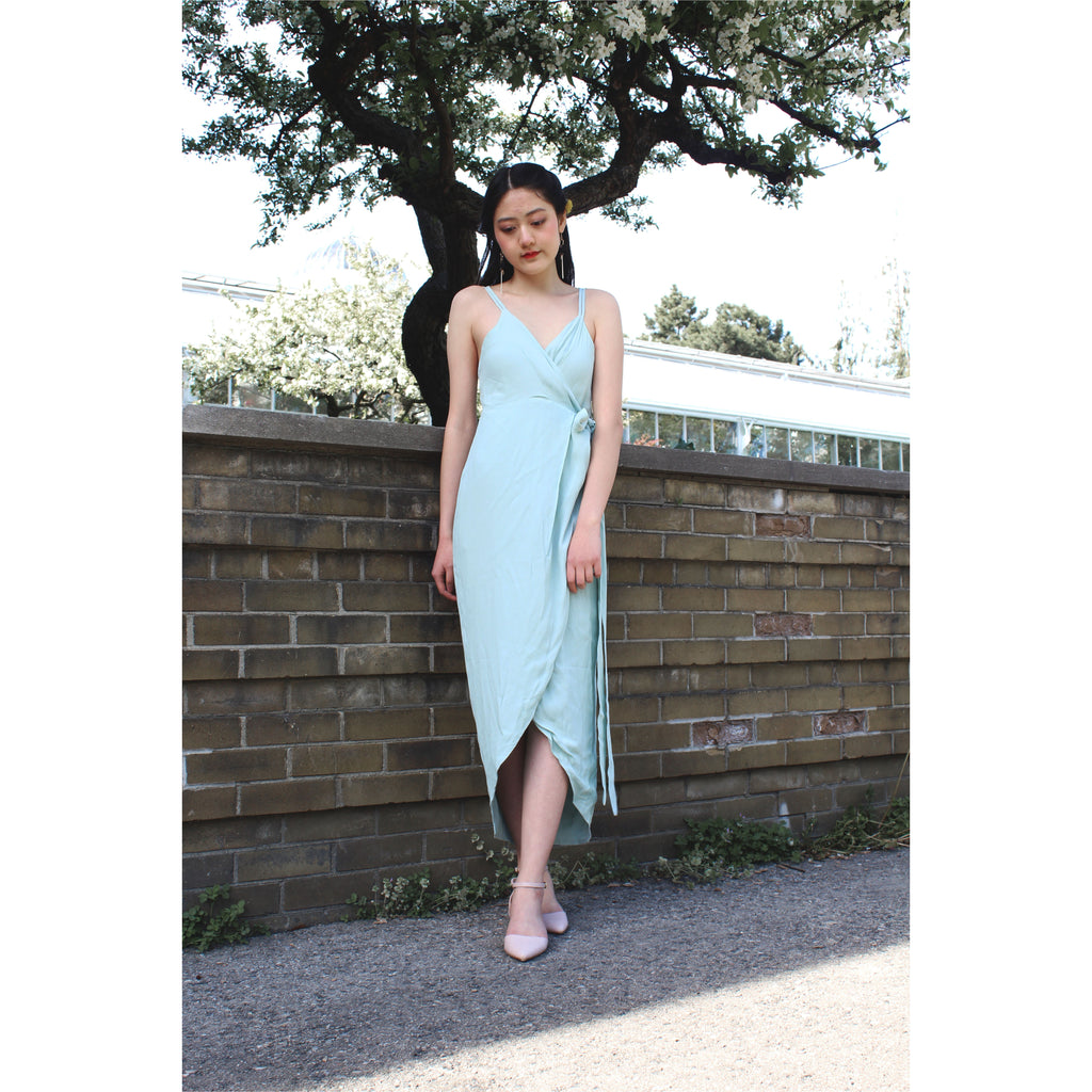 PREM | Moments Wrap Dress - Mint - Fresh Fashion Library
