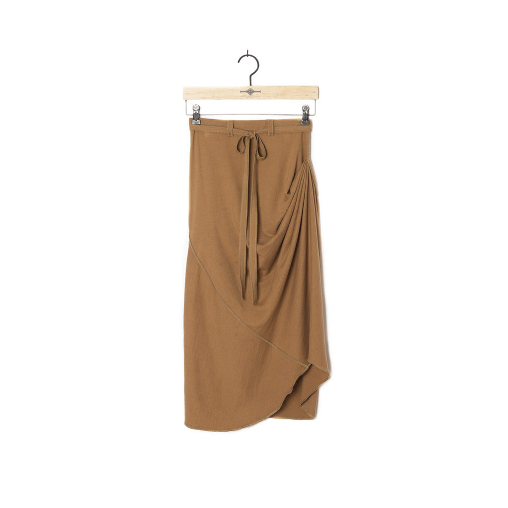 PEGGY SUE COLLECTION |  Brown Jersey Drape Skirt