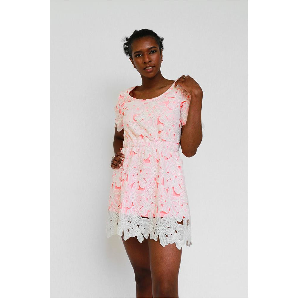 JOA | Lace-up Summer Dress