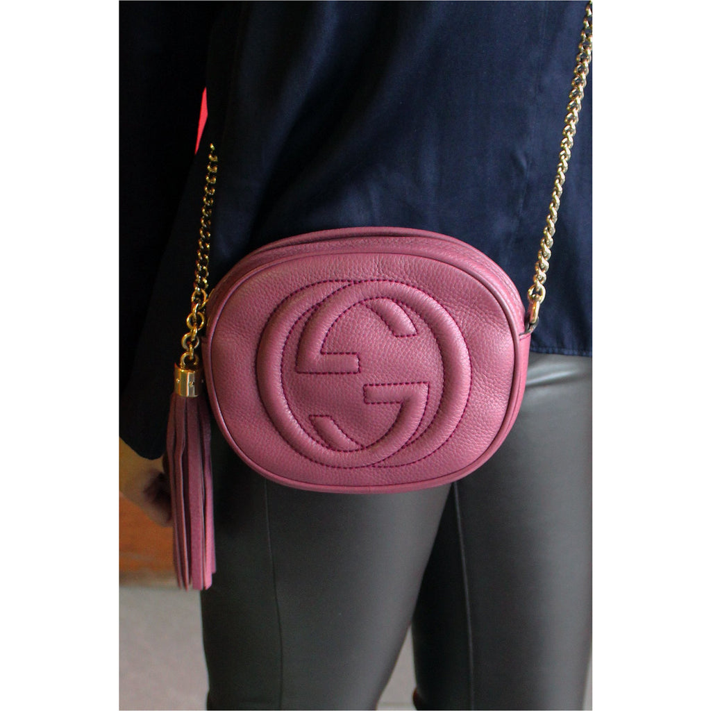 GUCCI | Dusty Rose Soho Mini Chain Bag - Fresh Fashion Library