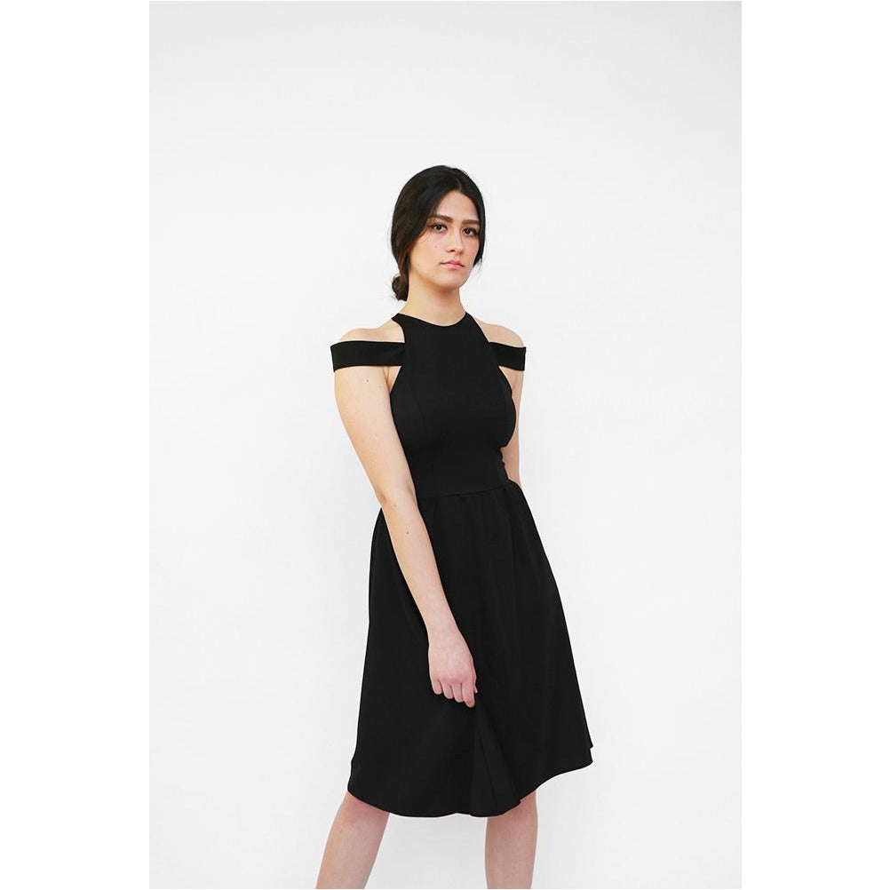 Luxe Collection | High Neck Full Skirt Dress