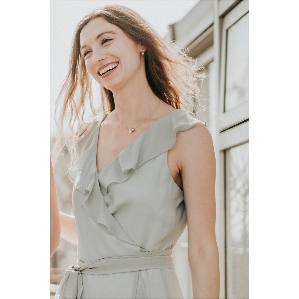 BHLDN | Mint Chiffon Wrap Dress - Fresh Fashion Library