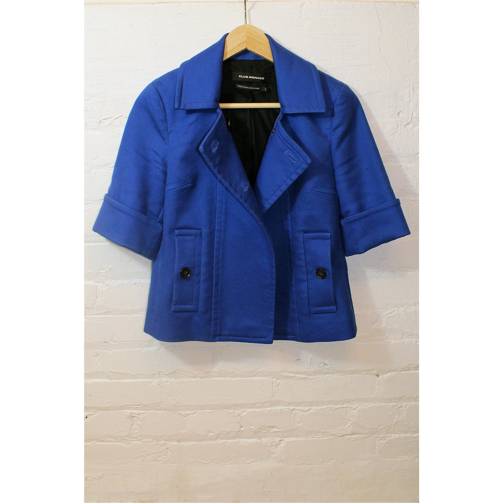 CLUB MONACO |  Royal Blue Short Sleeve Jacket