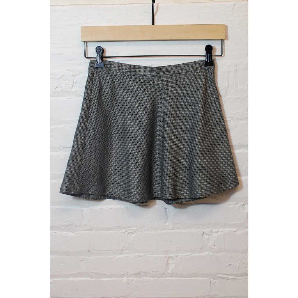 SILENCE + NOISE | Grey Twill Weave Mini Skirt - Fresh Fashion Library