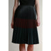 BCBG | Elsa Pleated Faux Leather Skirt