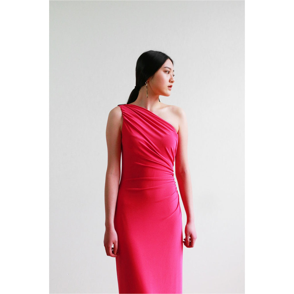 Lauren | One Shoulder Brooch Gown
