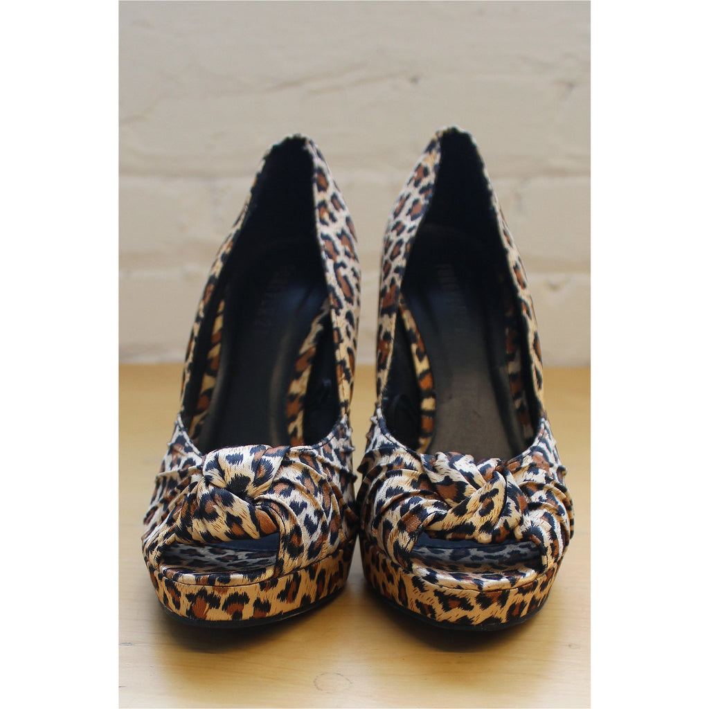 FOREVER 21 | Leopard Print Open Toe Pumps - Fresh Fashion Library