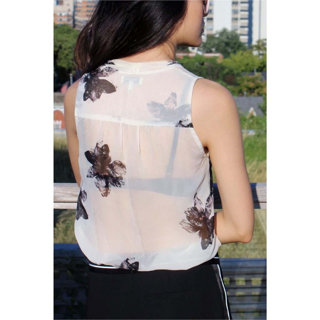 BABATON | Floral Silk Blouse - Fresh Fashion Library