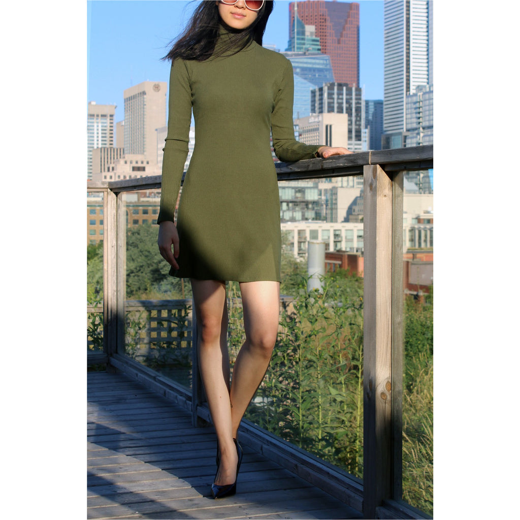 REFORMATION | Army Green Roberts Dress