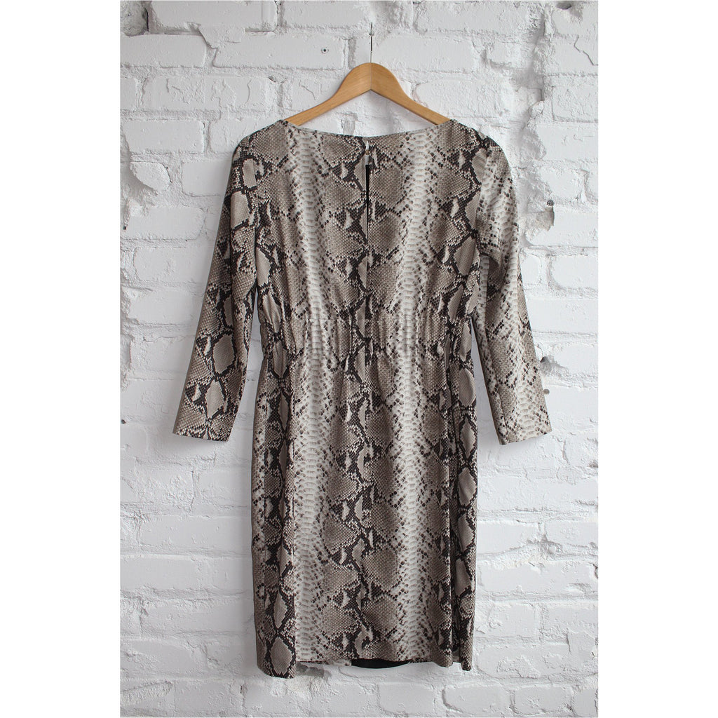 ZARA | Brown Python Dress - Fresh Fashion Library