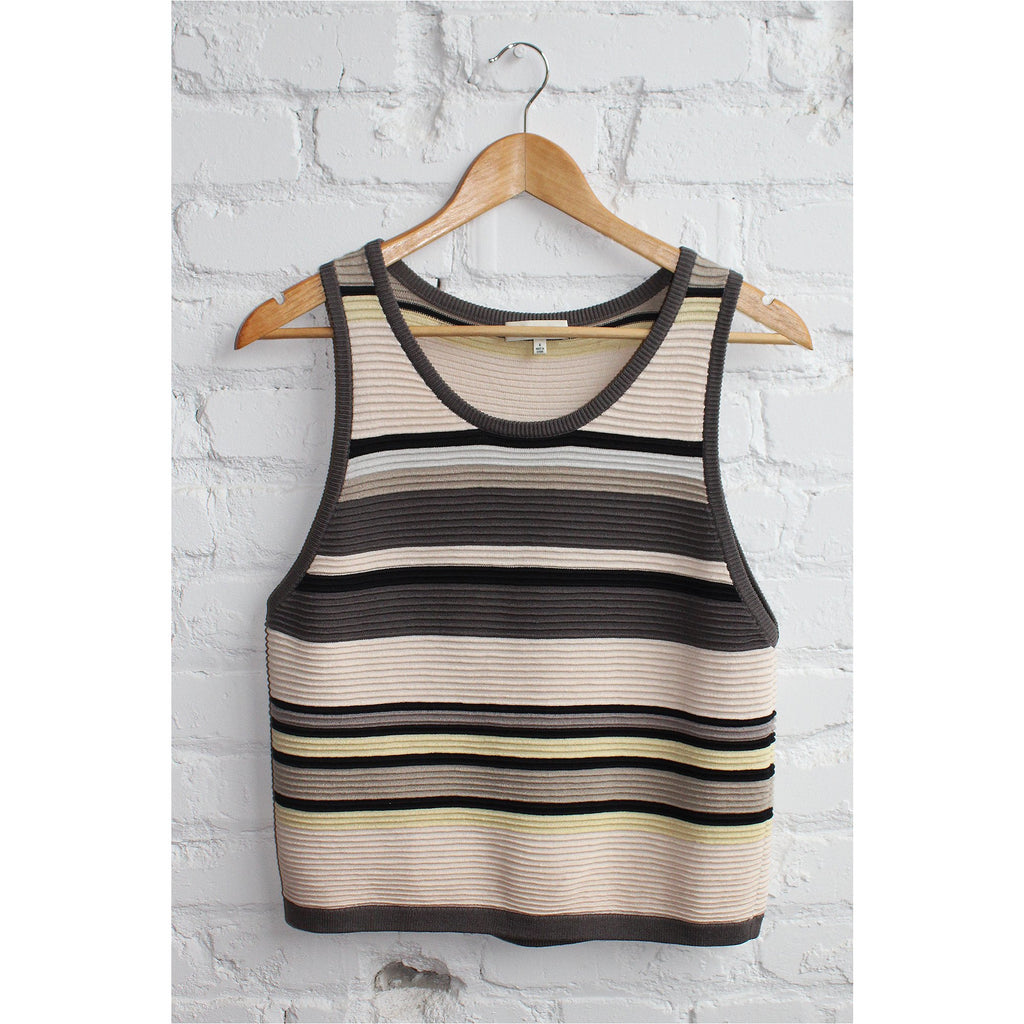 BABATON | Striped Knit Top