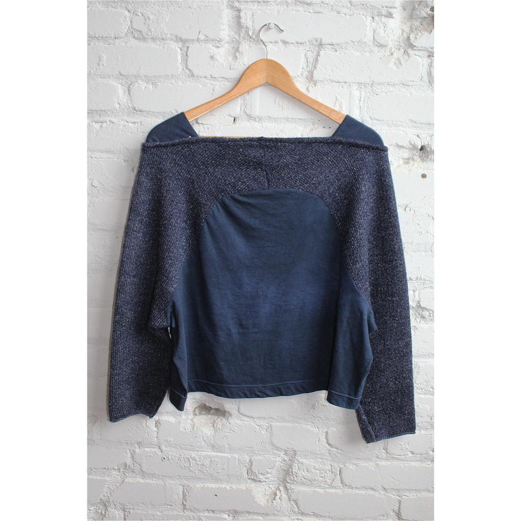 PEGGY SUE COLLECTION |  Navy Blue Mix Knit Top