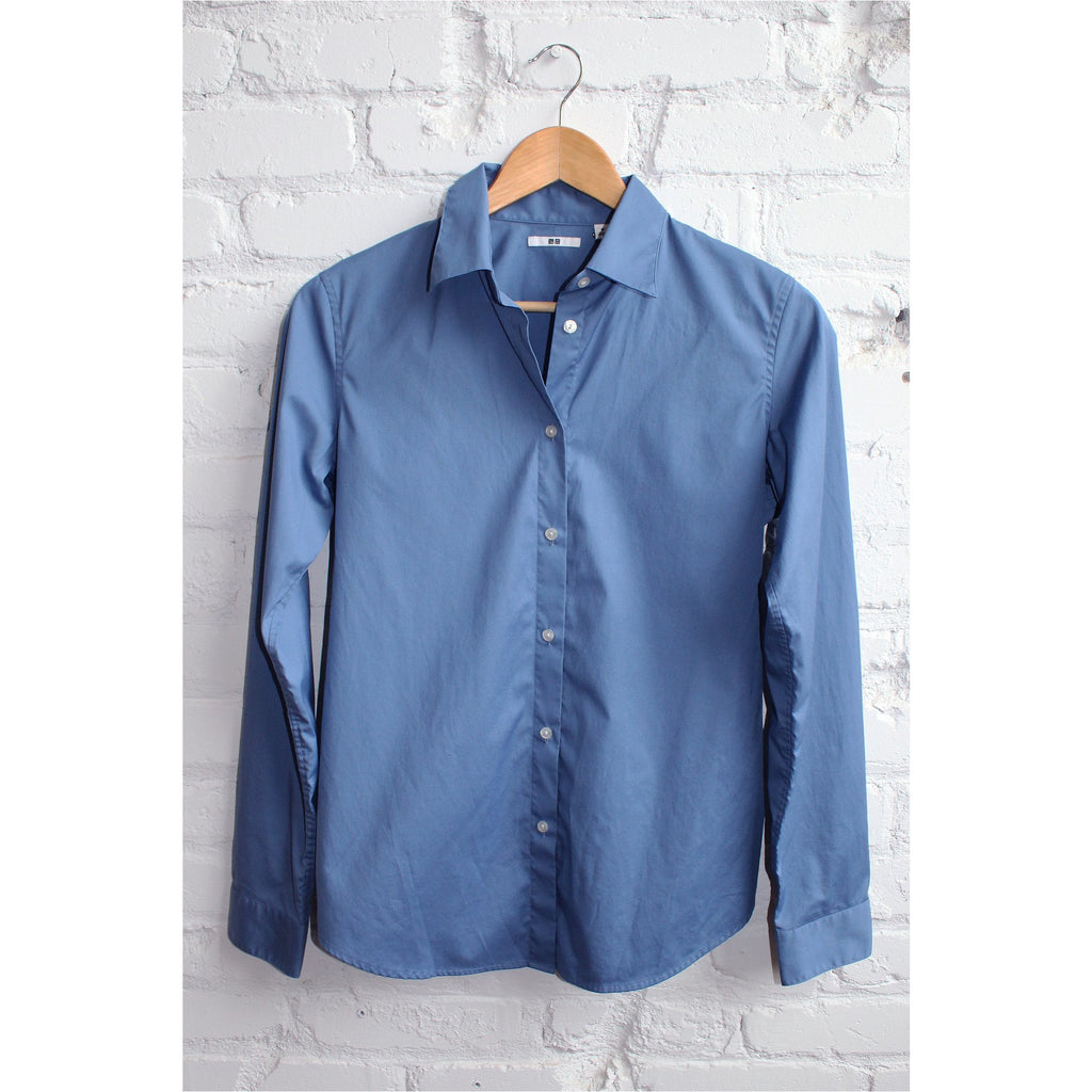 UNIQLO |  Blue Button Down Shirt - Fresh Fashion Library