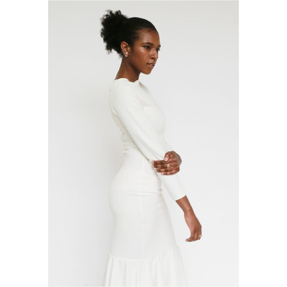 Luxe Collection | Boat-neck Trumpet Gown