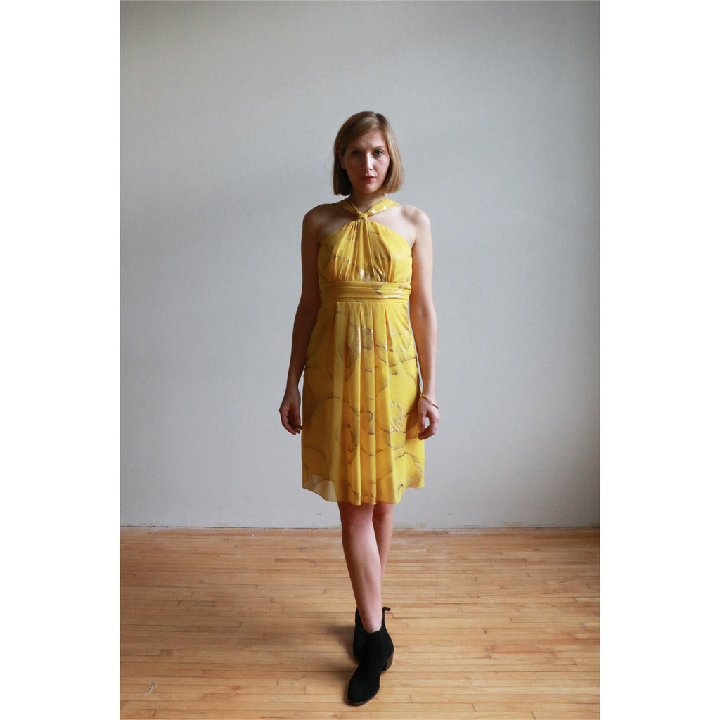 Le Chateau | Yellow cocktail dress - Fresh Fashion Library