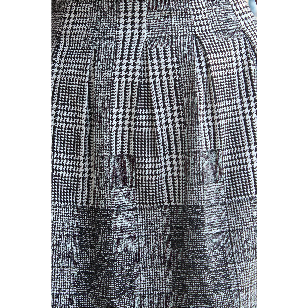H&M | Houndstooth A-line Dress - Fresh Fashion Library