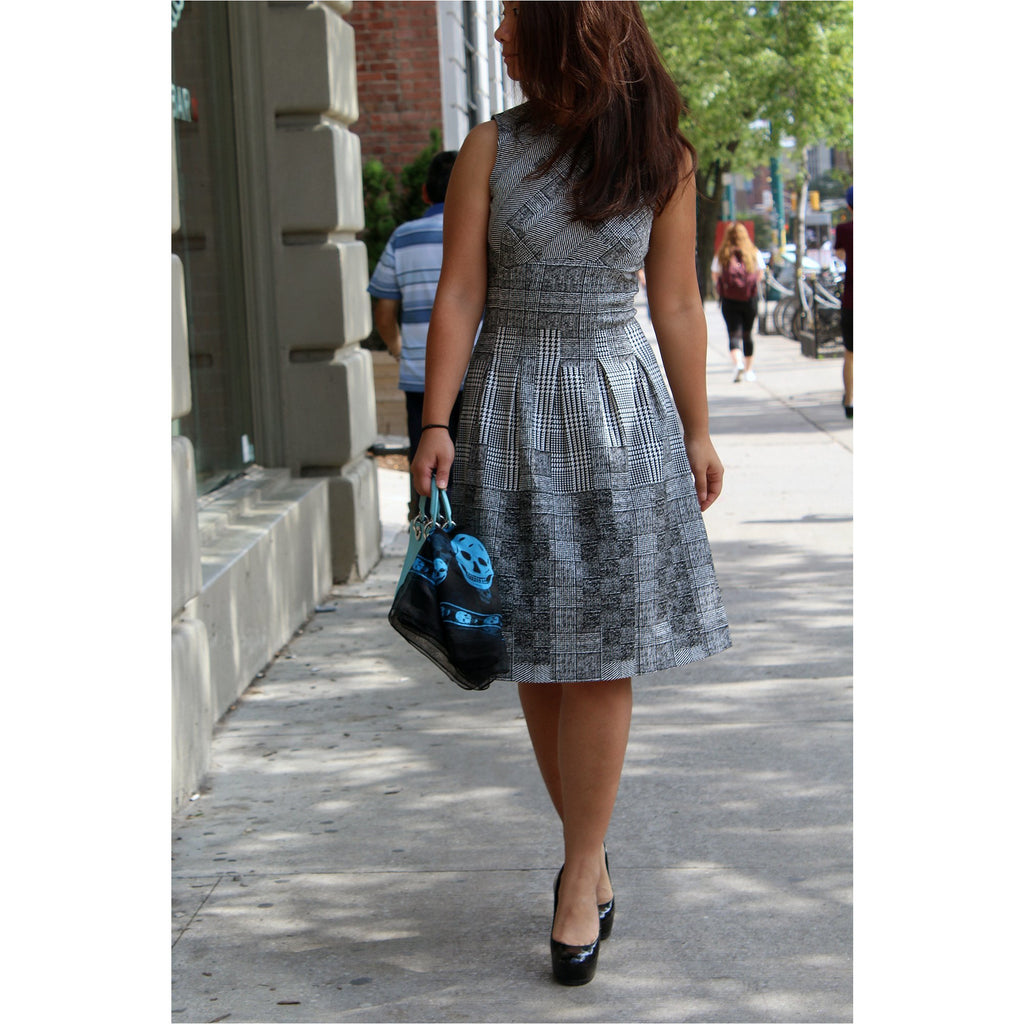 H&M | Houndstooth A-line Dress