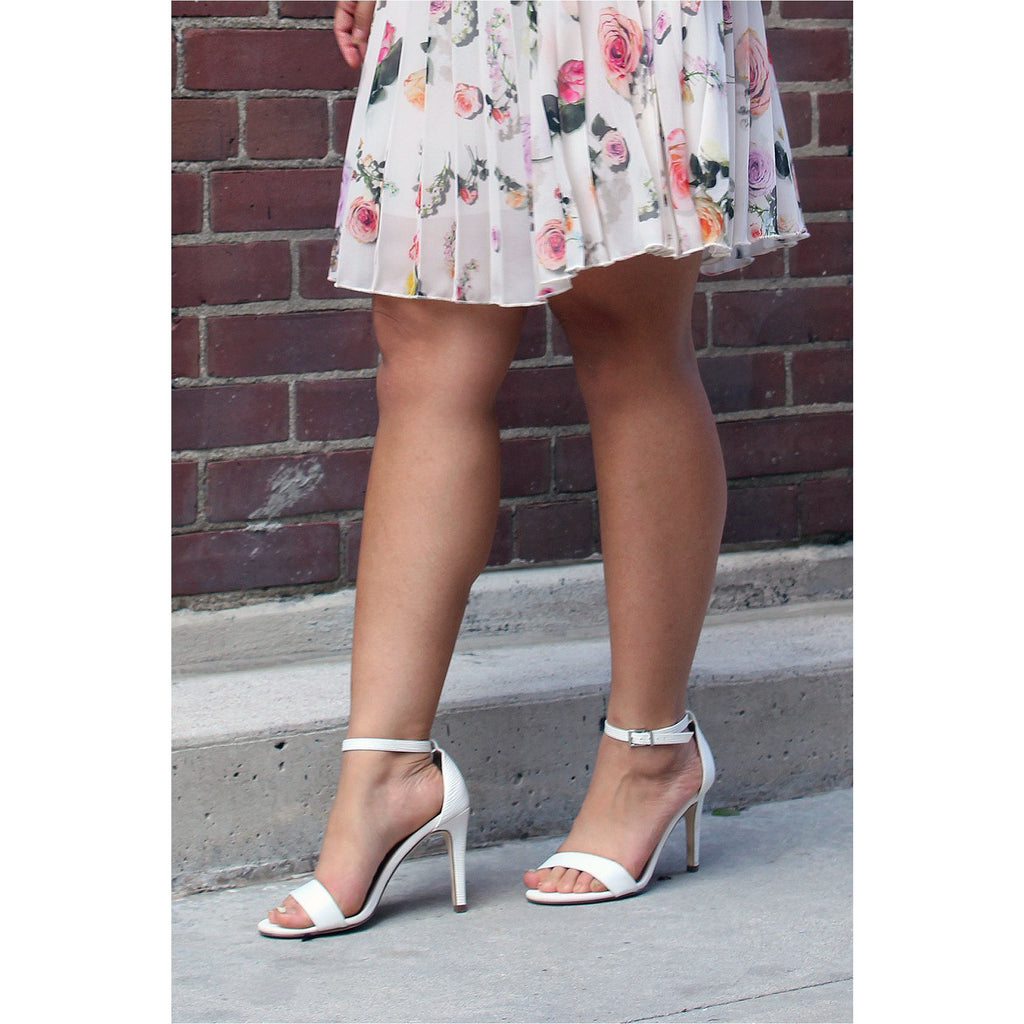CALL IT SPRING | White Textured Heels - Fresh Fashion Library