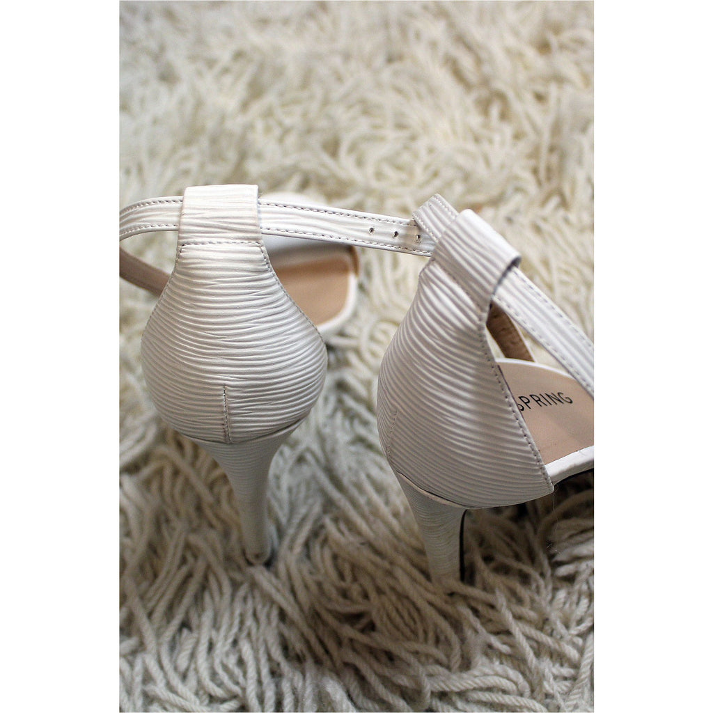 CALL IT SPRING | White Textured Heels