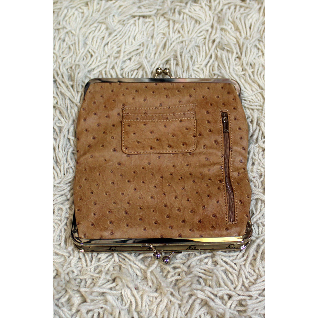 GUESS | Brown Faux Leather Wallet - Fresh Fashion Library