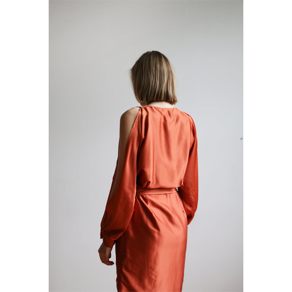 PREM | Athena Mini Dress - Rust - Fresh Fashion Library