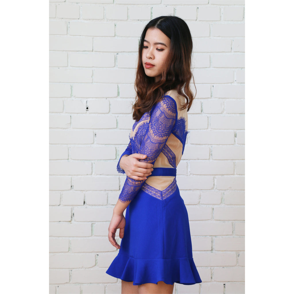 Three Floor | Shades of Blue Dress - Fresh Fashion Library