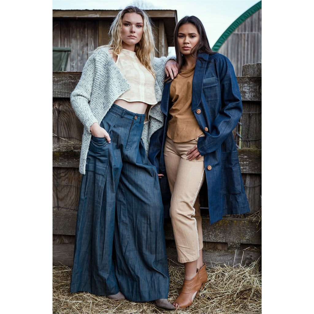 PEGGY SUE COLLECTION |  Wide Leg Denim Trousers