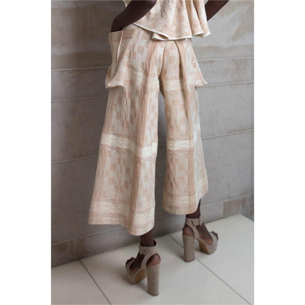 PEGGY SUE COLLECTION |  Wide Leg Hand-Woven Trousers