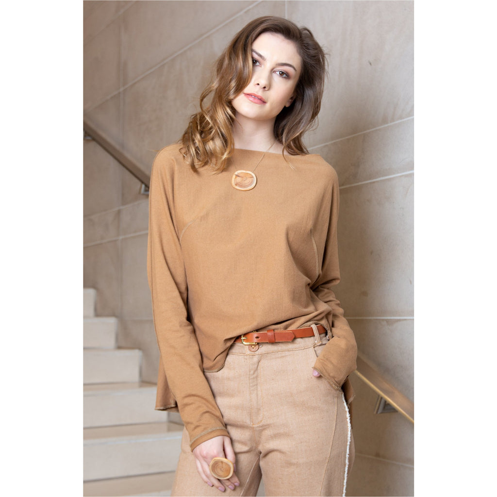 PEGGY SUE COLLECTION |  Brown Jersey Top