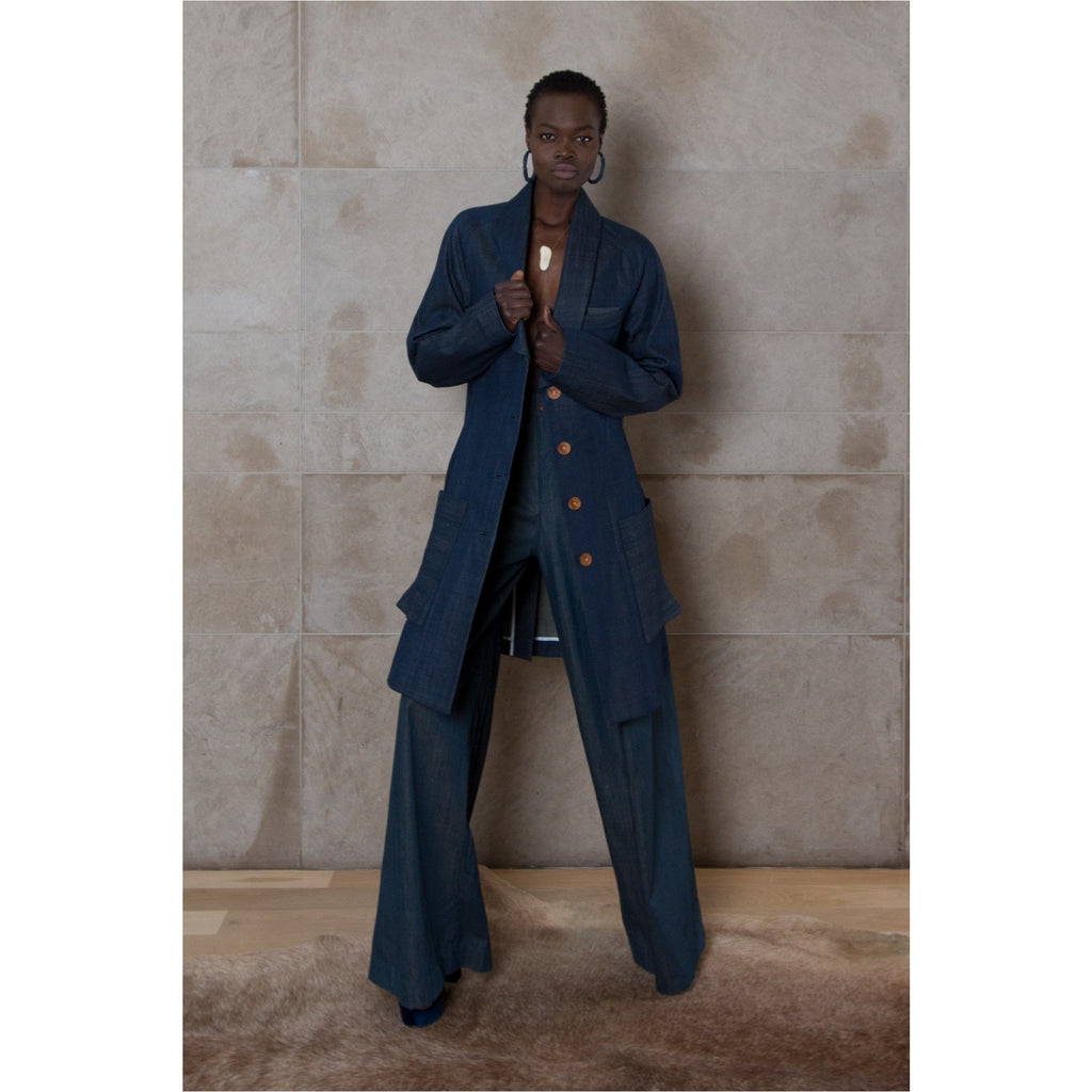 PEGGY SUE COLLECTION |  Raw Denim Tailored Overcoat