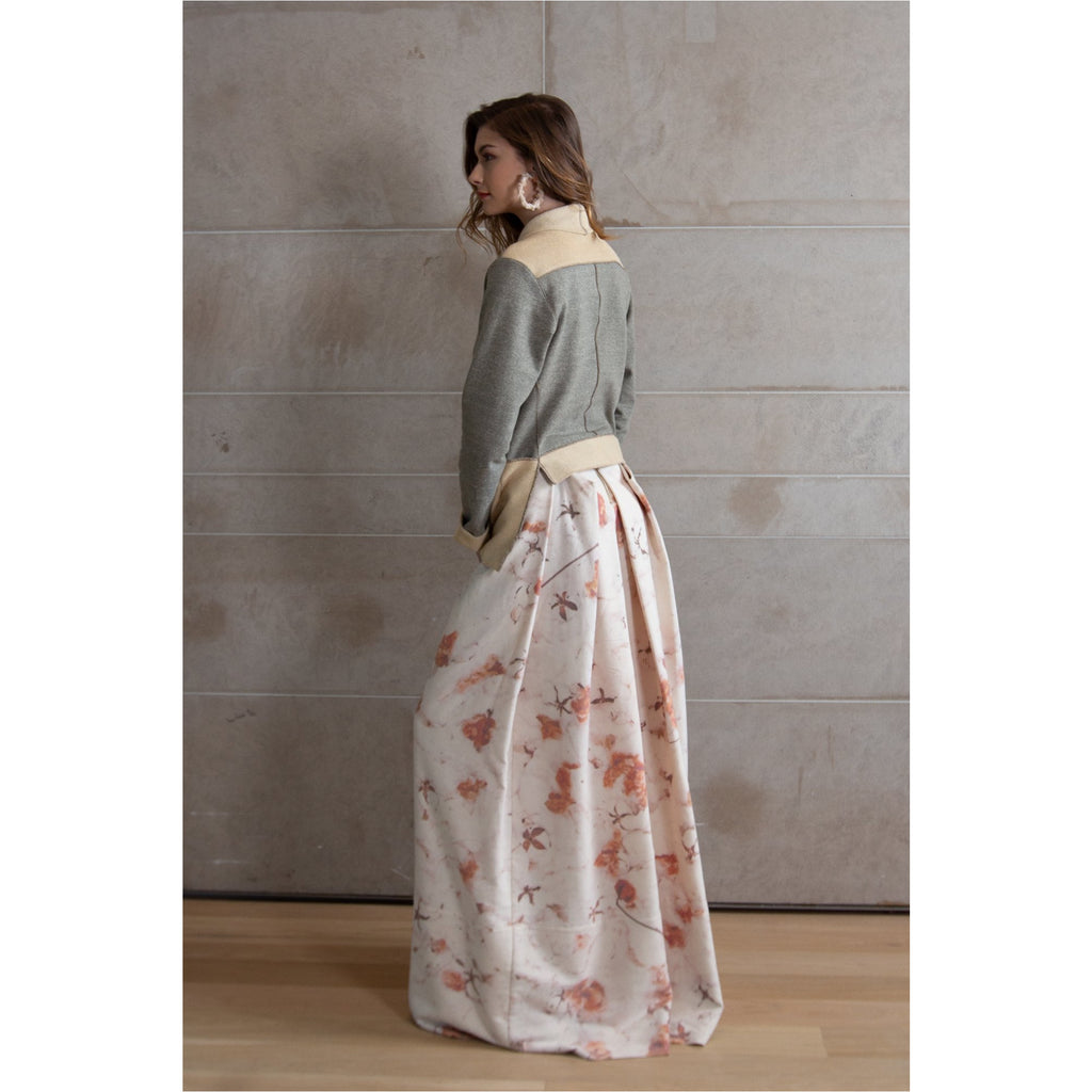 PEGGY SUE COLLECTION |  Printed Pleat Long Skirt